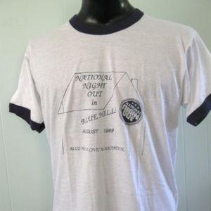 Other - 1989 Ringer Vintage Tshirt Blue Hills MA Tee